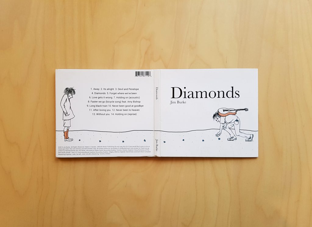 Diamonds CD Front/Back Cover Design and Illustration
