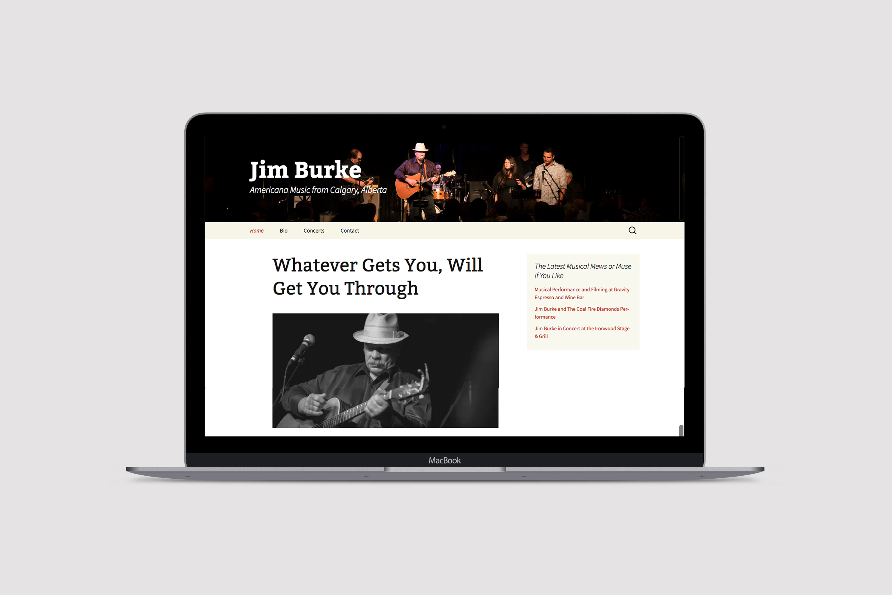 jimdburkemusic.com web design